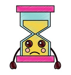 Hourglass kawaii icon image vector