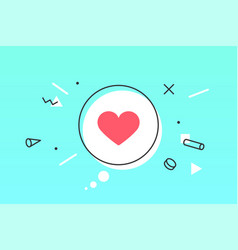 icon heart speech bubble like icon with heart vector image