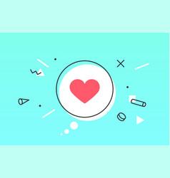 Icon heart speech bubble like with heart vector