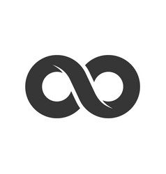 infinity sign icon on white background vector image