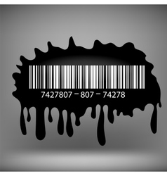 Ink Blot with Barcode vector image