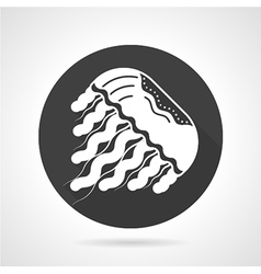 Jellyfish black round icon vector image