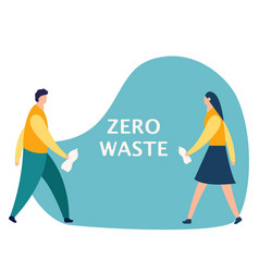 Kids boy and girl garbage recycling concept vector