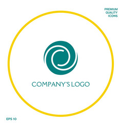 Logotype - two spirals in a circle - a flower bud vector