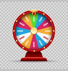 Luck wheel fortune vector
