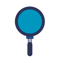 magnifying glass search isolated blue lines vector image