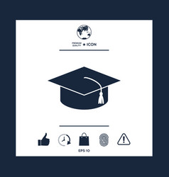 master cap for graduates square academic cap vector image