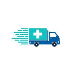 Medical delivery logo icon design vector