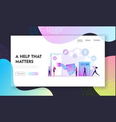 Micro credit finance organization service website vector