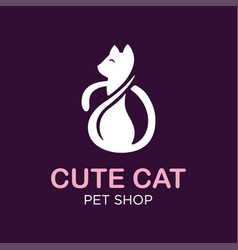 modern professonal logo cat pet vector image