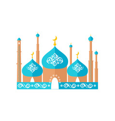 mosque with moon decoration vector image