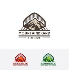 mountain brand logo vector image