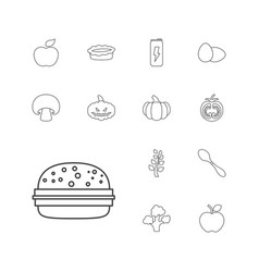 nutrition icons vector image