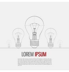 Of Lightbulb vector image