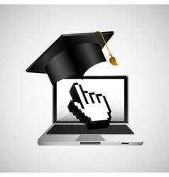 Online education concept hand cursor icon vector