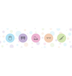 Outdoors icons vector
