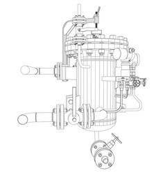 Picture heat exchanger vector