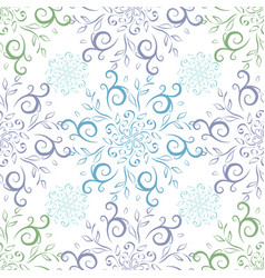 seamless vintage line art pattern vector image