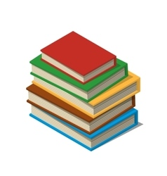 Set of books and tutorials Isometric flat vector image