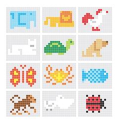 Set of sketch animals vector
