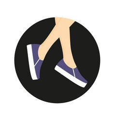 Slipones on legs vector