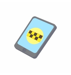 Smartphone with taxi service application icon vector
