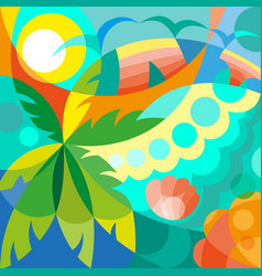 Summer time party poster vector