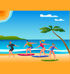 surfing school concept 02 vector image