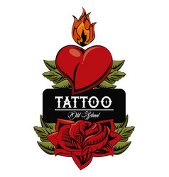 tattoo studio design vector image