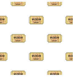 Ticket to the museum icon in cartoon style vector