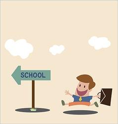 To school vector image