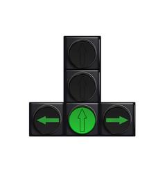Traffic lights with green light vector