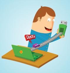 Transfering data vector