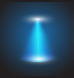 ufo light beam isolated on checkered background vector image