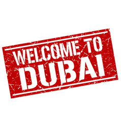 Welcome to dubai stamp vector