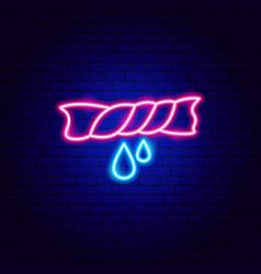Wet towel neon sign vector