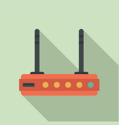 Wifi router icon flat style vector