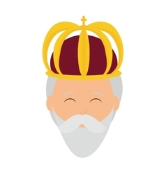 Wise man icon Merry Christmas design vector image