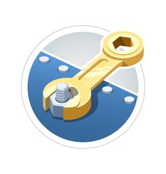 Wrench screw nut vector image