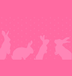 art of easter bunny greeting card vector image vector image