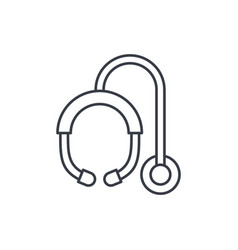 phonendoscope thin line icon linear symbol vector image vector image