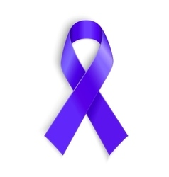 Purple ribbon as symbol of cancer awareness drug vector image