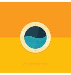 Round Porthole vector image