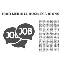 Labor Market Icon with 1000 Medical Business vector image vector image