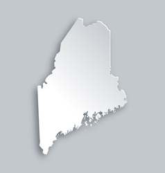 Map of Maine vector image