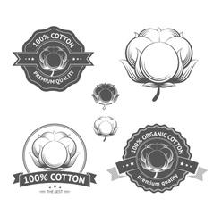 Cotton labels vector