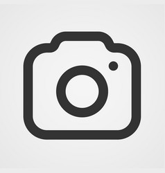 modern photo camera icon isolated icon vector image vector image