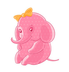 the blushing pink girl elephant in the hearts and vector image vector image