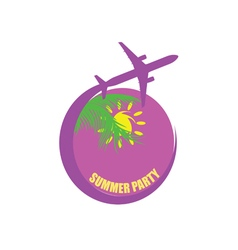 travel with summer party color vector image vector image