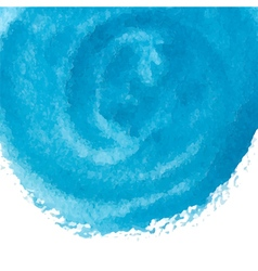 Blue watercolor circle vector